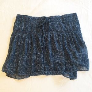 American Eagle Navy and Blue Dotted Skirt Size XS